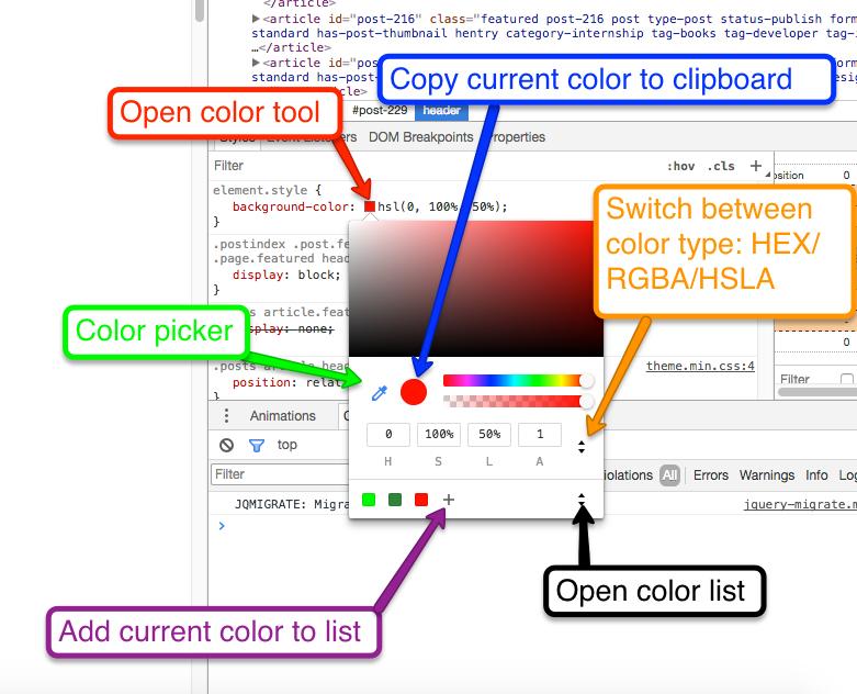 color editor explanation