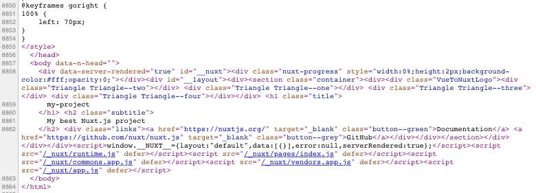 code lines nuxt