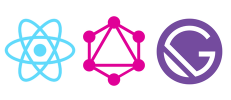react graphql and gatsby logo together