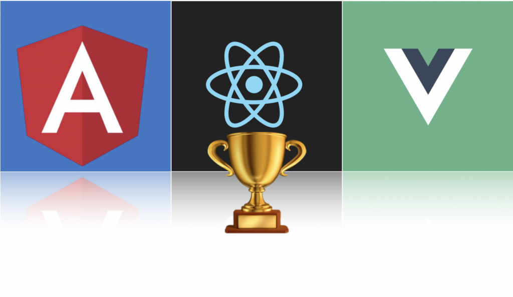 angular vue react comparison with react as a winner