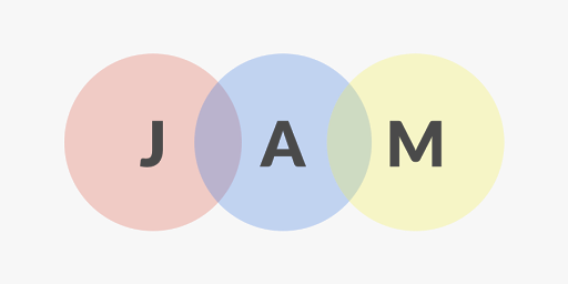 circles with JAM letters inside