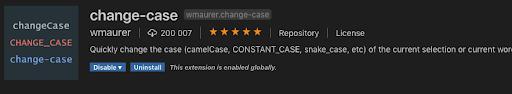 change-case vscode plugin