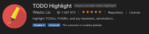todo highlight vscode plugin