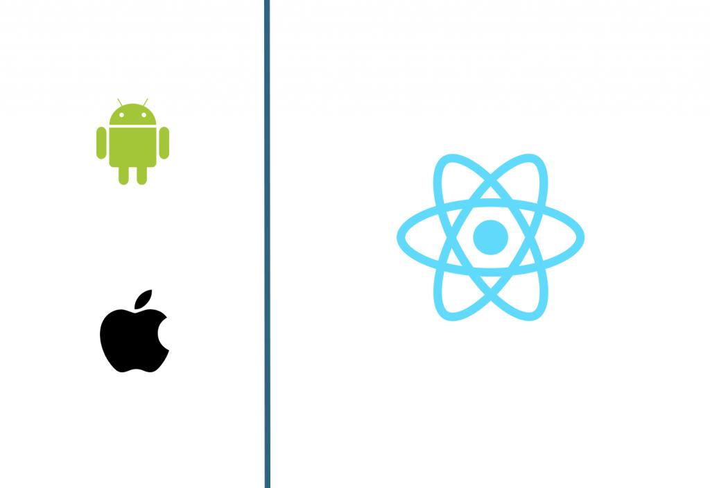 android and iov vs react native logos