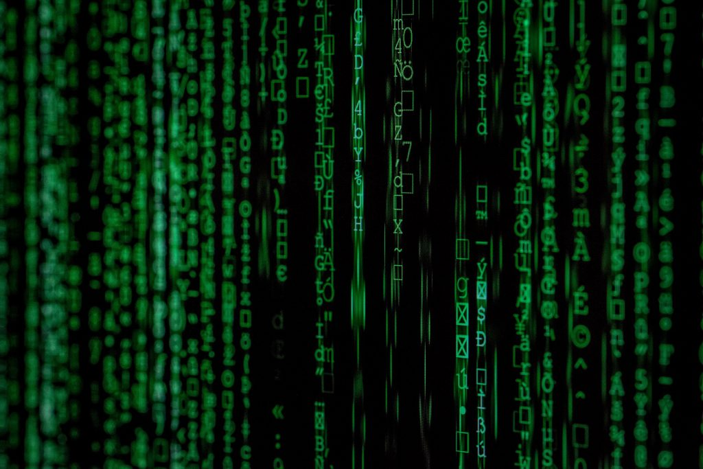 picture of matrix code