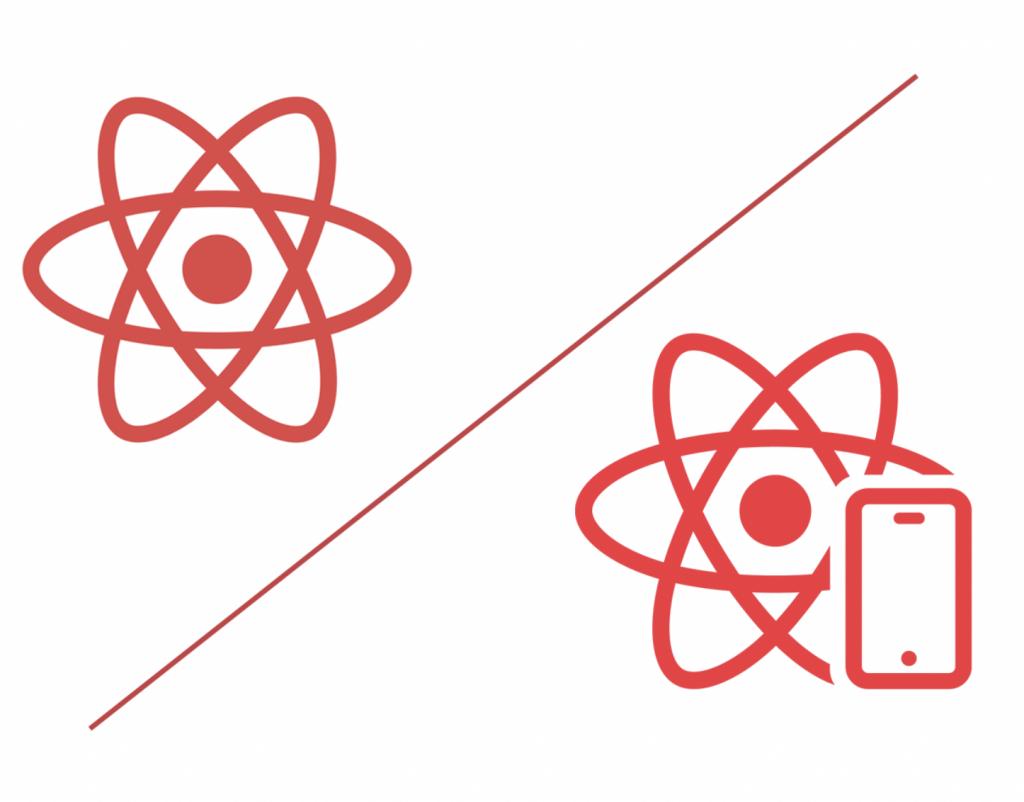 react vs react native logos