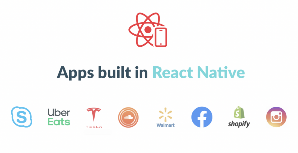 logos of apps built in react native
