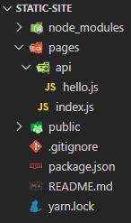 next app structure