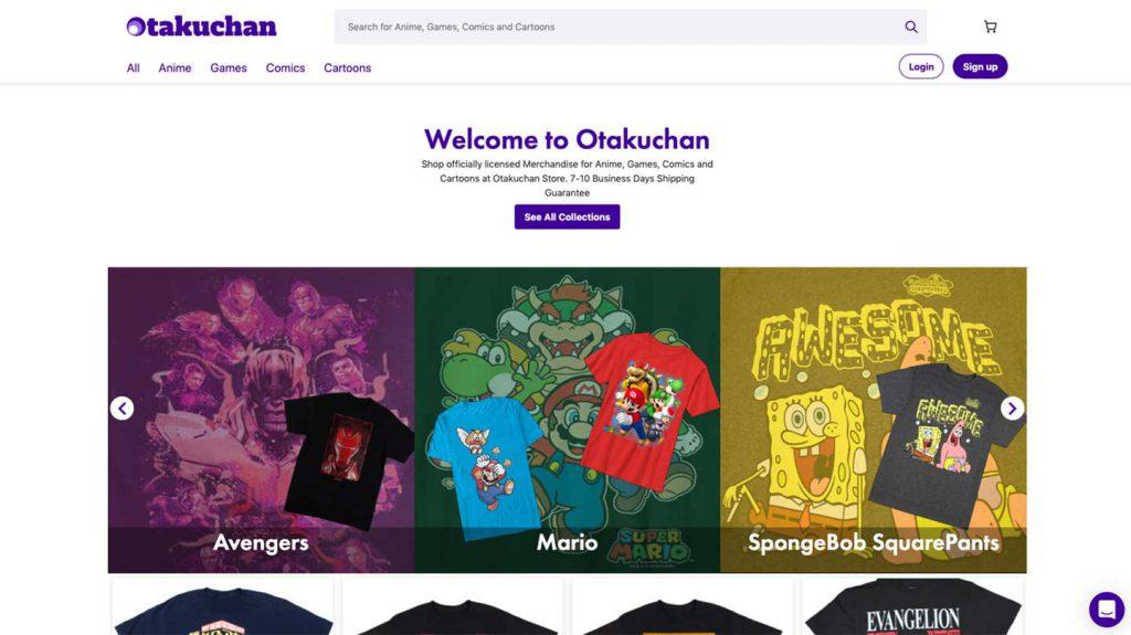 Example of JAMstack website: Otakuchan