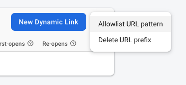 Creating a New Dynamic Links