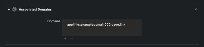 Associated Domains tab
