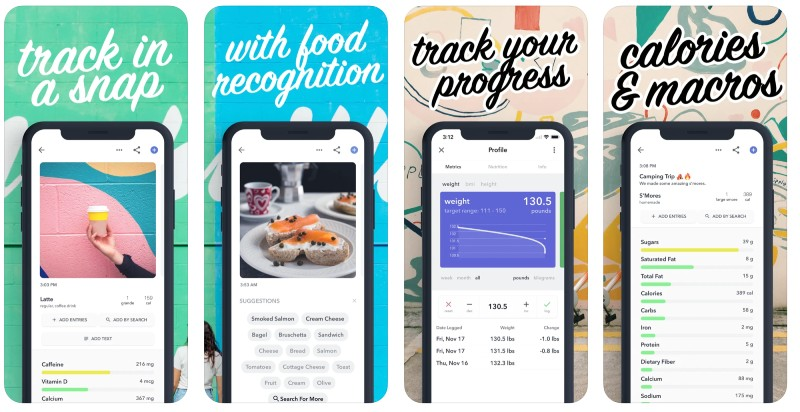 React Native apps: Bitesnap app screenshots