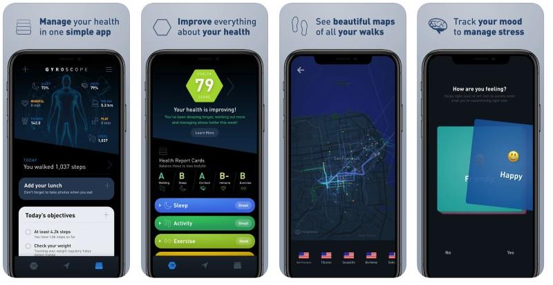 React Native apps: Gyroscope app screenshots