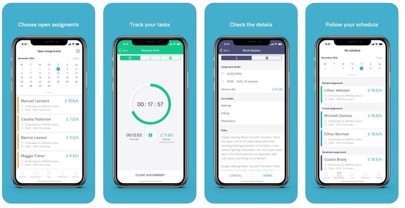 React Native apps: Helpr app screenshots