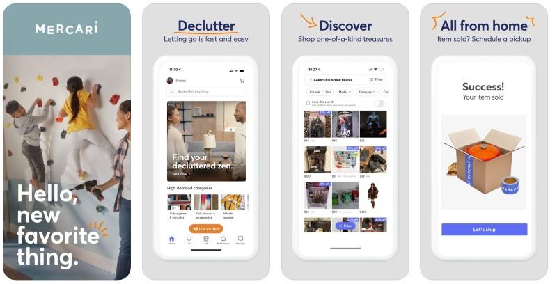 React Native apps: Mercari app screenshots