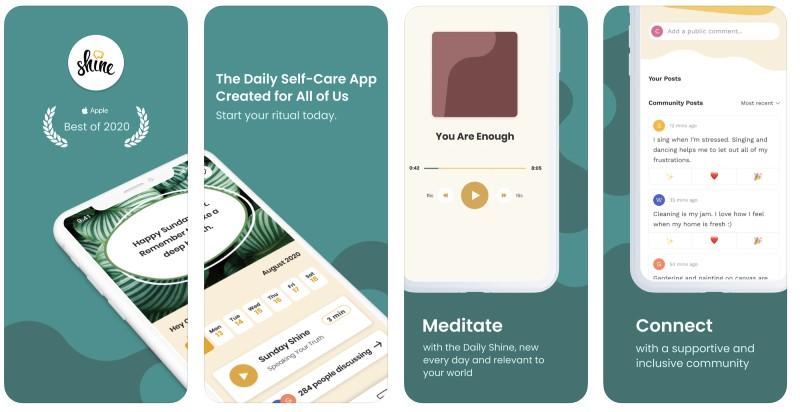 React Native apps: Shine app screenshots