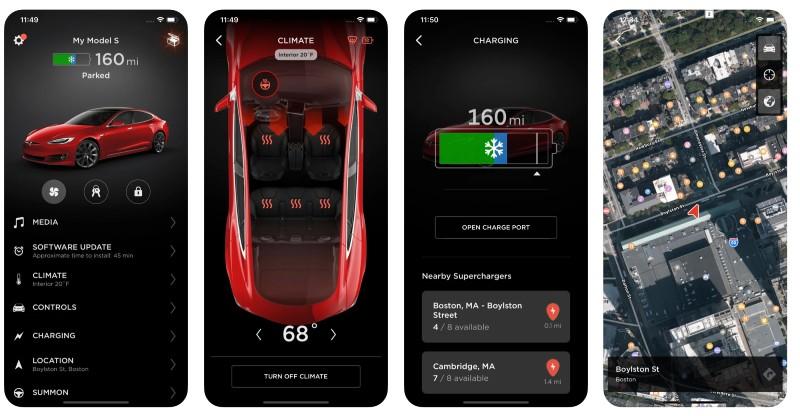 React Native apps: Tesla app screenshots