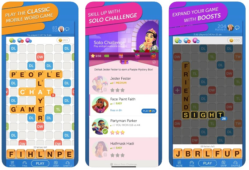 React Native apps: Words with Friends app screenshots