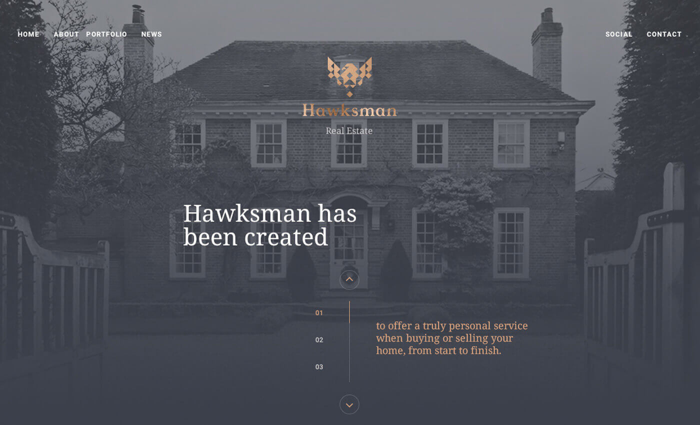 Hawksman Home Page Screenshot